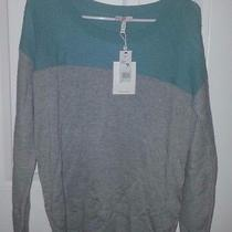 Nwt 258 Joie Camilla Sweater Gray Aqua Green S Cotton Blend New 258 Photo