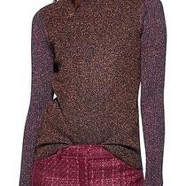 Nwt 275 Tory Burch Lindley Turtleneck Wool Sweater Pullover Top Wild Plum Xs Photo