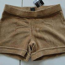 Nwt 28 Hue Wide Wale Corduroy Shorts Camel Sz S Photo