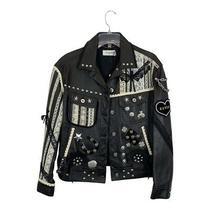 Nwt 2800 Coach Embelished Leather Moto Jacket Elvis Lucky Size 4 Photo