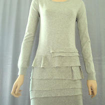 Nwt 289 Bcbg Sweater Party  Dress Top Size M (8 10) Heather Grey Photo