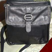 Nwt 289 Fossil Black Leather Crosstown Camera Crossbody Shoulder Bag Photo