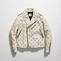 Nwt 2900 Coach & Rodarte Leather Moto Jacket With Pearl Detail Size 2 Photo