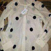 Nwt 295 Derek Lam 10 Crosby L/s Polka Dot Blouse Shirt Sz 8 Saks Photo