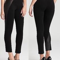 Nwt 298 Elie Tahari Jolene Ponte Leather Pants Leggings Size L Photo