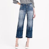 Nwt 298 J.crew Madewell Point Sur Denim Teddy Buckle-Back Cropped Jeans 24  Photo