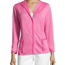 Nwt 298 Lafayette 148 New York Bracelet Sleeve Cardigan Pink Dahlia  Photo