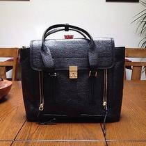 Nwt 3.1 Phillip Lim Pashli Large Satchel-Tote-Handbag Black Leather Saffiano Photo