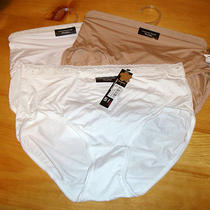 Nwt 3 Pair Hue Microfiber Lace Band Modern Briefs Panties Small 5 Pt83800b Photo