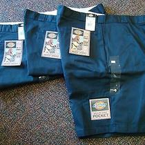 Nwt (3) Size 48 Men's 3 Pairs Blue Dickies Double Seat Loose Fit Work Shorts Photo