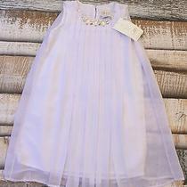 Nwt 31.97 Blush Sz 7 Girl's Tank Blouse White Jewel Dress Polyester New Photo