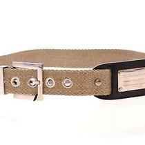 Nwt 320 Dolce & Gabbana Beige Cotton Leather Logo  Belt it.46  us.12  Xl Photo