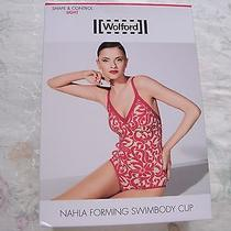 Nwt 325 Wolford Nahla Forming Swimbody Cup 89278 Sb Small B Cup Green Floral Photo