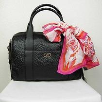 Nwt 328 Cole Haan Black Handbag Satchel Genuine Leather and 100%Silk Scarf Photo