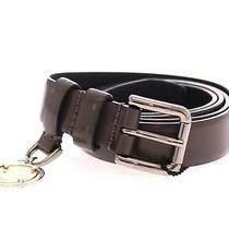 Nwt 330 Dolce & Gabbana Gray Leather Logo Charm Belt Cintura S.90 Cm / 36 Inch Photo