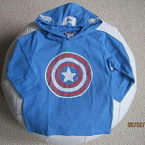Nwt 34.95 Baby Gap Captain America Superhero Junk Food Hooded Boys 4t 4 Years Photo