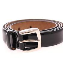 Nwt 340 Dolce & Gabbana Black Leather Logo Belt Cintura S.95 Cm / 38 Inch Photo
