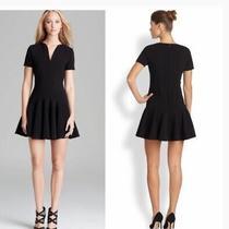 Nwt 350 Beautiful Shoshanna Black Drop Waist Pipetrim Dress Addison Size 2 Cute Photo
