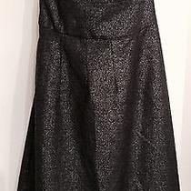 Nwt 355 Theory 'Conie' Mica Stretch Wool Metallic Grey Strapless Empire Dress 4 Photo