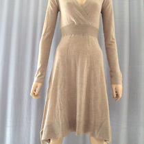Nwt 358 Bcbg Sweater Dress Wool Light Heather Size M (8 10) in Store Photo