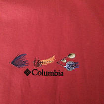 Nwt 36 Columbia Short Sleeve Periodic Table Fishing Lures & Flies 4x Photo