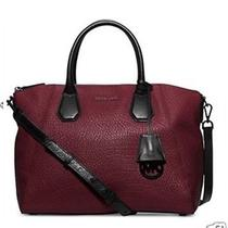Nwt368 Michael Kors Merlot Campbell Large Leather Satchel Bag  Photo