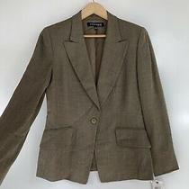 Nwt 375 Anne Klein Size 10 Brown One Button Suit Blazer Jacket Photo