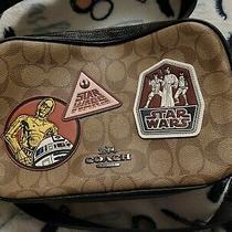 Nwt 378 Coach X Star Wars Jes Crossbody Bag Sig Canvas Patches Khaki/black  Photo