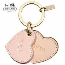 Nwt 38.00 Authentic Coach Monogrammable Multi Color Hearts Key Ring F68705   Photo