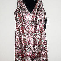 Nwt395 Aidan Mattox Sequin Embellished Wiggle Dress Size 10 Photo