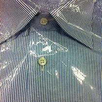 Nwt395 Ermenegildo Zegna Italian Luxury Dress Shirt  17/43 Photo