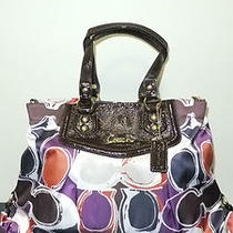 Nwt 398 Coach F20113 Ashley Hand Drawn Scarf Print Carryall Shoulder Bag Photo