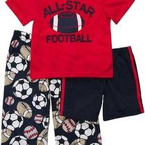 Nwt  3pc  Set Carters  Boys Pajamas  New  Football All-Star 18m  28 Photo