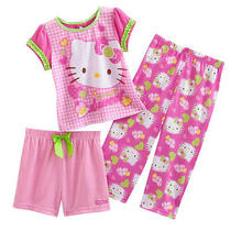 Nwt 3pc Set Hello Kitty  Girls Pajamas    New  Always Sweet  4t  30 Photo