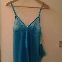 Nwt 40 Honeydew  Blue Dazyintimates Whimsy Babydoll & G-String Set - M Photo