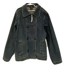 Nwt 44 Girls Gap Blue Denim Jacket Coat Size Xxl Large 14 16 18.5 Button Nice Photo
