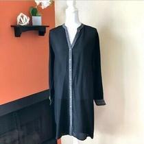 Nwt 449  Camilla Sz M Dragon Lady Longline Shirt Tunic Top Rhinestone Black Photo