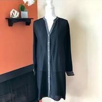 Nwt 449 Camilla Sz S Dragon Lady Longline Shirt Tunic Top Rhinestone Black Photo
