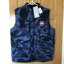 Nwt 450 Size Xl Canada Goose Freestyle Crew Down Vest Abstract Blue Camouflage Photo