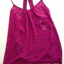 Nwt 48 in Bloom by Jonquil Women's Plum Crochet Babydoll Chemise Nightgown Sz L Photo