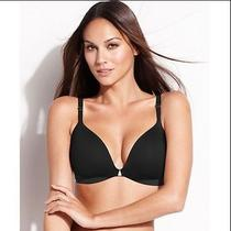 Nwt 48 Spanx 1689 Starpower Show Girls Side Smoothing Wireless Bra Black 38c Photo