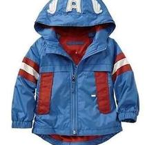 Nwt 49.95 Baby Gap Junk Food Boys Captain America Rain Jacket 12-18 Months Photo
