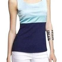 Nwt 50 Express Blue Colorblock Hammered Jersey Tank Top Size Small Htf Photo