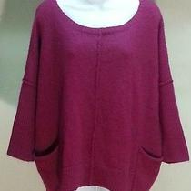Nwt 54 style&co. Purple Solid Scoop Neck Relaxed Fit Sweater Size M Photo