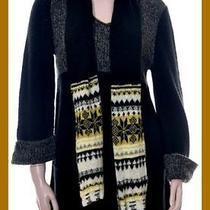 Nwt 54 style&co. Women's Black Grey Combo Tunic Sweater Dress W/scarf Sz Xl Photo