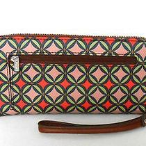 Nwt 55 Fossil Wallet Clutch Wristlet Removable Wrist Band Photo