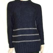 Nwt 555 Boy by Band of Outsiders Navy Hand Knitted Navy Sweater 1 Photo