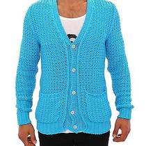 Nwt 560 Pierre Balmain Blue Knitted Cardigan Long Arm Sweater S. 48 / Us38 / M Photo