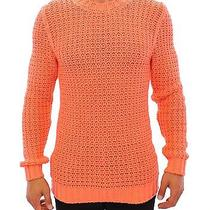 Nwt 560 Pierre Balmain Peach Knitted Crewneck Long Arm Sweater S. 50 / Us40 / L Photo