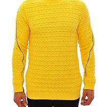 Nwt 560 Pierre Balmain Yellow Knitted Crewneck Long Arm Sweater 48 / Us38 / M Photo